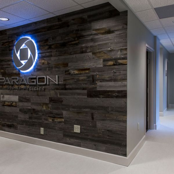 Reception Area at the Paragon Center for Sports Medicine